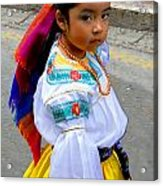Cuenca Kids 210 Acrylic Print by Al Bourassa