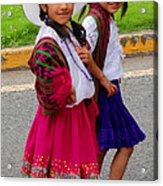 Cuenca Kids 58 Acrylic Print by Al Bourassa