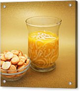 Cup O Soup And Oyster Crackers Acrylic Print
