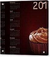 Cupcake Calendar 2013 Acrylic Print by Jane Rix