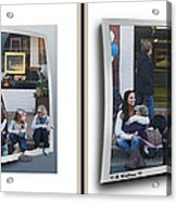 Curb Resting - Gently Cross Your Eyes And Focus On The Middle Image Acrylic Print
