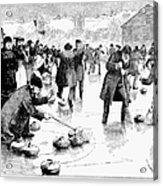 Curling, 1884 Acrylic Print