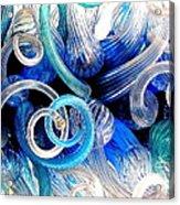 Curls Of Blue And Aqua Acrylic Print