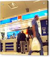 Currency Exchange At An Airport Acrylic Print
