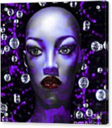 Cushioned Lips Moon Lady Acrylic Print