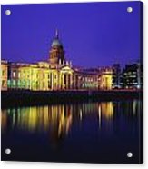 Custom House, Dublin, Co Dublin Acrylic Print by The Irish Image Collection