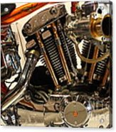 Custom Motorcycle Chopper . 7d13316 Acrylic Print by Wingsdomain Art and Photography