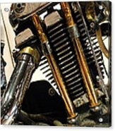 Custom Motorcycle Chopper . 7d13318 Acrylic Print by Wingsdomain Art and Photography