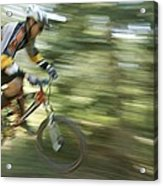 Cycling On Stoner Mesa, Colorado Acrylic Print