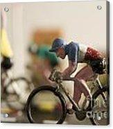 Cyclists. Figurines. Symbolic Image Tour De France Acrylic Print