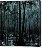 Cypress Moon Acrylic Print
