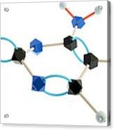 Cytosine Molecule Acrylic Print by Lawrence Lawry