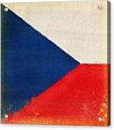 Czech Republic Flag Acrylic Print