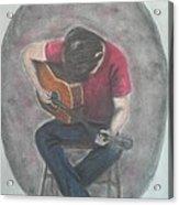 Dad And His Guitar Acrylic Print
