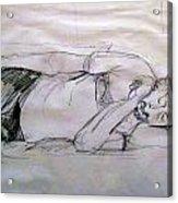 Dad Sleeping Acrylic Print
