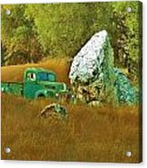 Daddy's Truck Acrylic Print by Helen Carson