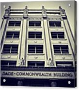 Dade Commonwealth Bldg. - Miami ( 1925 Acrylic Print