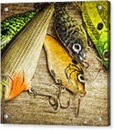 Dad's Fishing Crankbaits Acrylic Print