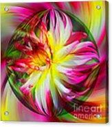 Dahlia Flower Energy Acrylic Print