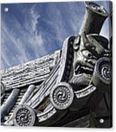 Daigo-ji Temple Roof Gargoyle - Kyoto Japan Acrylic Print