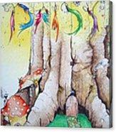 Daisy Fairy Illustration Acrylic Print