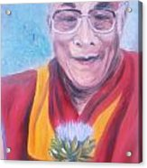 Dalai Lama-peace And Harmony Acrylic Print