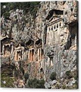 Dalyan Rock Tombs Turkey Acrylic Print by Julie L Hoddinott