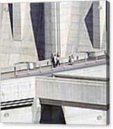 Dam Tourists Acrylic Print