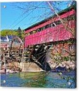 Damaged Covered Bridge Acrylic Print