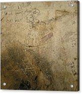 Damaged Surface Iv Acrylic Print