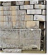 Damaged Wall, Machu Picchu, Peru Acrylic Print