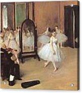 Dance Class Acrylic Print by Edgar Degas