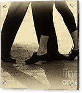 Dance Practice Acrylic Print by Leslie Leda