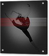 Dancer Acrylic Print by Naxart Studio