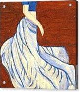 Dancing Girl -acrylic Painting Acrylic Print by Rejeena Niaz