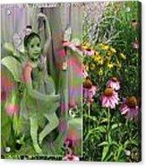 Dancing Girl In Flowers Acrylic Print