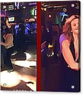 Dancing New Years Eve - Gently Cross Your Eyes And Focus On The Middle Image Acrylic Print