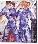 Dancing Sailors Acrylic Print by Pg Reproductions