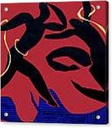 Dancing Scissors 24 Acrylic Print