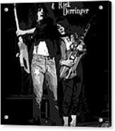 D J And R D In Spokane 1977 Acrylic Print