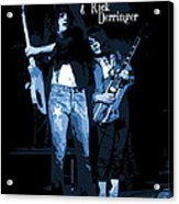 D J  And R D  Playing The Blues 1977 Acrylic Print
