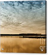 Danube River-sunset Acrylic Print