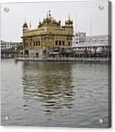 Darbar Sahib And Sarovar Inside The Golden Temple Acrylic Print