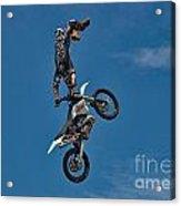 Daredevil Motorcyclist Acrylic Print