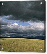 Dark Clouds Gather Over A Prairie Acrylic Print