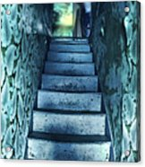 Dark Staircase With Man At Top Acrylic Print