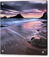 Dark Sunrise On Hidden Bay Acrylic Print