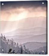 Dark Vista Over The Smokys Acrylic Print by Pixel Perfect by Michael Moore