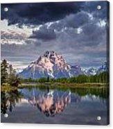 Darkening Skies Over Oxbow Bend Acrylic Print