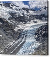 Dart Glacier Above Cascade Saddle Mount Acrylic Print